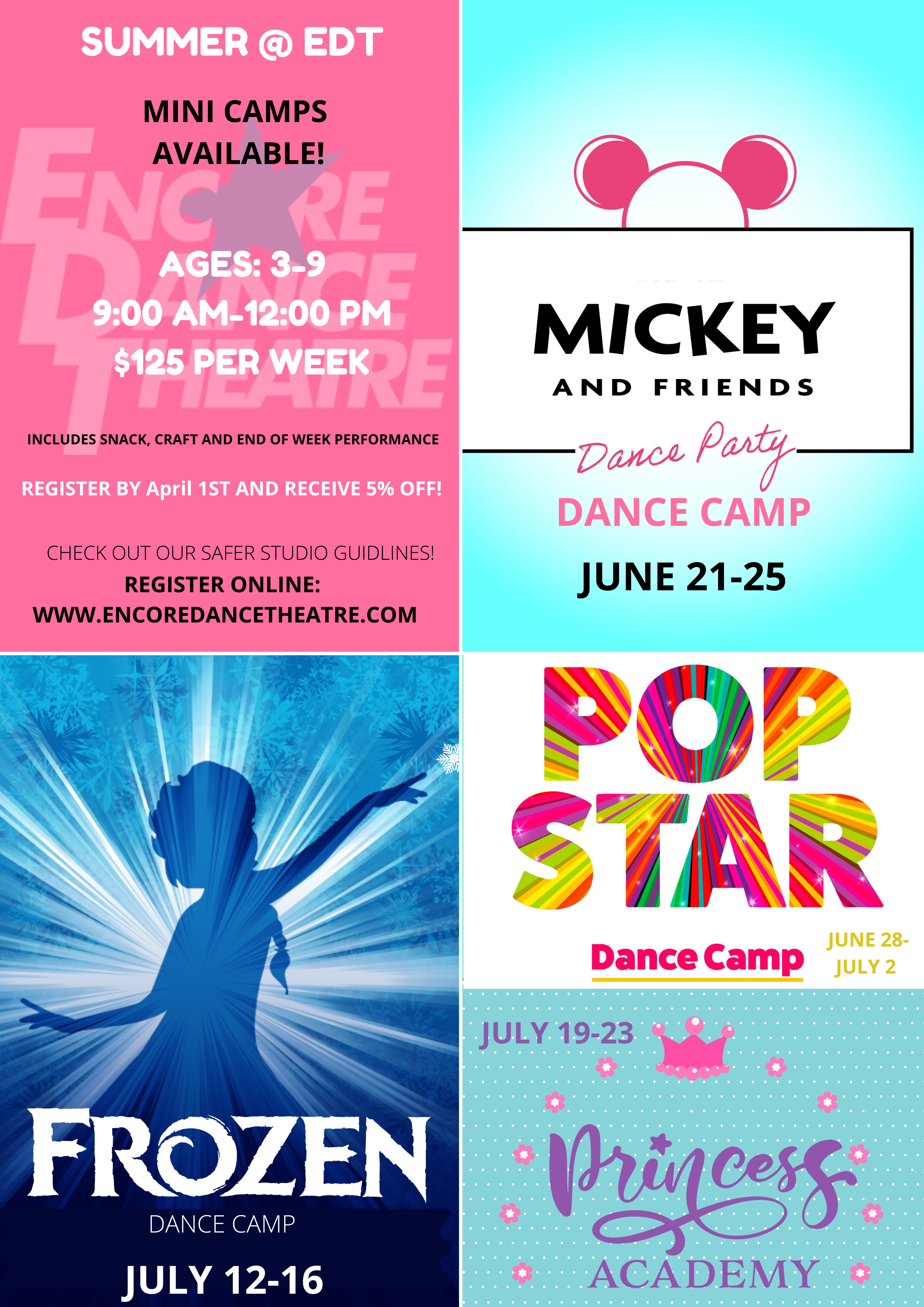 more dance camp promotions